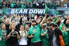 All Blacks and Irish fans mingle in Chicago. Photo / Getty