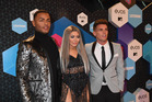 (L-R) Nathan Henry, Chloe Ferry and Gary Beadle of Geordie Shore attend the MTV Europe Music Awards 2016. Photo / Getty