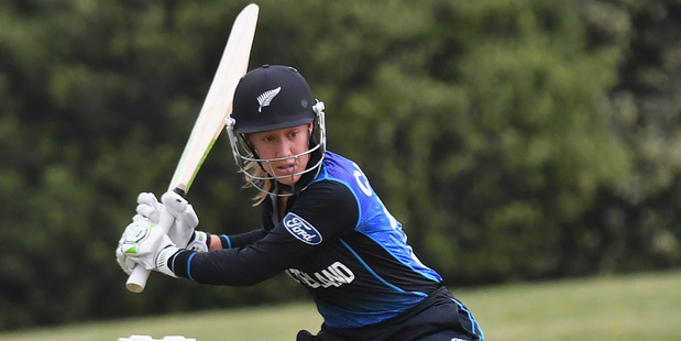 Samantha Curtis of the White Ferns bats during the Women's ODI match against Pakistan. Photo / Getty Images