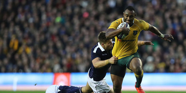 Tevita Kuridrani played hero for Australia in the dying minutes. Photo / Getty Images