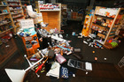Products lie on the ground in a chemist after an earthquake on November 14, 2016 in Wellington. Photo / Getty