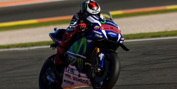 Jorge Lorenzo during the race of Moto GP Gran Premio Motul de la Comunitat Valenciana. Photo / Getty Images
