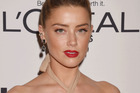 Amber Heard broke her silence at the Glamour Women Of The Year ceremony. Photo/Getty