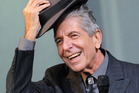 Leonard Cohen performs on the Pyramid stage during day three of the Glastonbury Festival. Photo / Getty