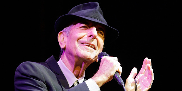 Leonard Cohen performs during day one of the Coachella Valley Music & Arts Festival 2009. Photo / Getty