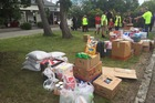 Donations of food, water and other essential supplies are flooding into quake-stricken Waiau today. Photo / Kurt Bayer