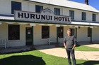 The historic Hurunui Hotel has been red-stickered after Monday's quake but publican Sean Madden is confident it will be allowed to reopen soon. Photo /  Kurt Bayer