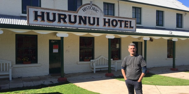 Loading The historic Hurunui Hotel has been red-stickered after Monday's quake but publican Sean Madden is confident it will be allowed to reopen soon. Photo /  Kurt Bayer