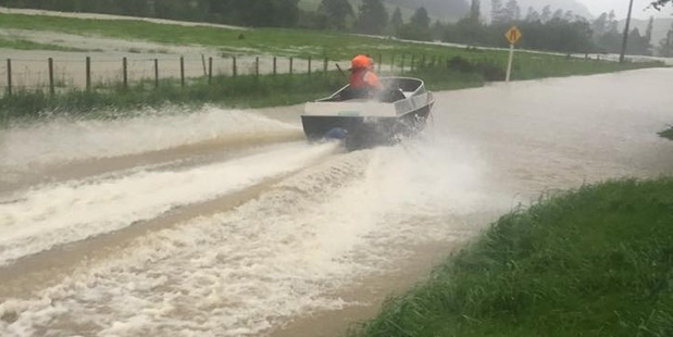 Loading Ben Todd tearing up the Tunakino Valley road in his jet boat. Photo / Supplied