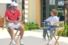 The European Tour's Little Billy interviews golfing great Rory McIlroy in Dubai