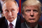 Trump and Putin could be set to transform the relationship between the US and Russia. Photos / Getty
