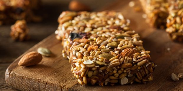 Granola bars are packed full of sugar and despite what the packaging may say, they cannot be classed as 'healthy,' according to Rhiannon. Photo / 123RF