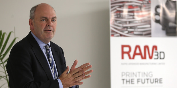 Science and Technology Minister Steven Joyce opened Rapid Advance Manufacturing on Friday. PHOTO/JOHN BORREN