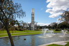 Central clock tower in the square, Palmerston North, New Zealand. Photo / Getty Images