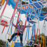 Five-year-old Julian Pedersen was enjoying the merry-go-round.