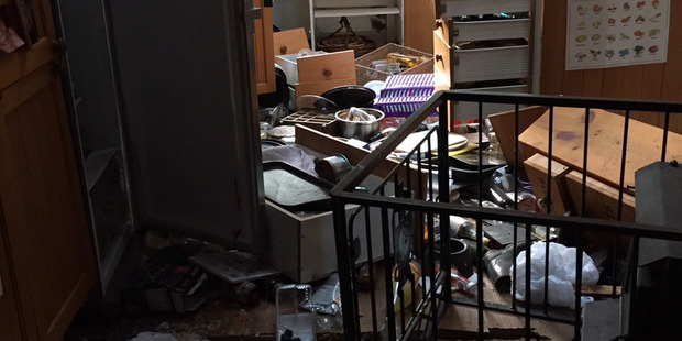 Loading Property in Oaro, Kaikoura damaged in this morning's earthquake. Photo / Elaine Powell