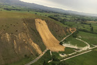 A massive slip blocks State Highway 70 near Waiau following a 7.5 M earthquake that struck North Canterbury. Photo / Sam Smith