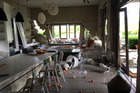 Destruction to a home in Waiau caused by the 7.5M earthquake that struck North Canterbury on Monday. Photo / Supplied