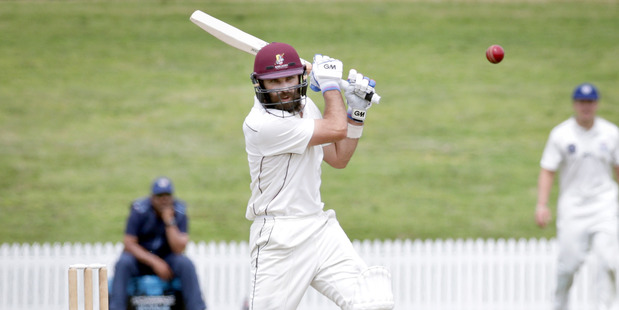 IN FORM: Dean Brownlie helped Northern Districts gain the advantage on day one against Auckland at Bay Oval yesterday. PHOTO: ANDREW WARNER