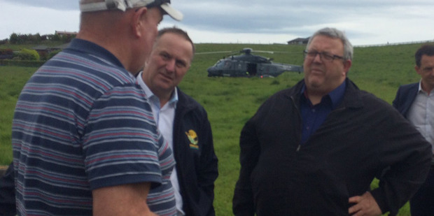 Loading John Key and Gerry Brownlee survey damage to the Kaikoura and Marlborough areas following Monday's earthquake. Photo / Katie Bradford
