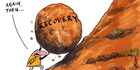 View: Cartoon: Tough road to recovery