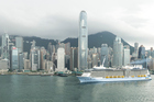 Ovation of the Seas arrives in Hong Kong.
