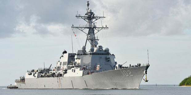 The USS Sampson in 2014. Photo / Supplied