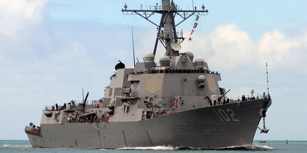 Loading Warships from Australia, Canada and the United States have arrived in Kaikoura to help with disaster relief efforts. Above is the San Diego-based guided-missile destroyer USS Sampson. Photo / File
