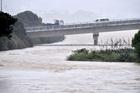 A river rises as it nears Porirua Harbour in Wellington. Photo / Marty Melville