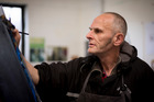 Artist Andrew Blythe who is exhibiting in the Outsider Art Fair.  Photo: Dean Purcell.