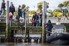 The New Zealand Navy starts evacuating tourists from Kaikoura today. Photo /  Mike Scott