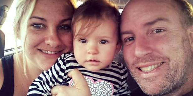 Anna Reid, her daughter Aleeha and husband Evan. Photo / Supplied