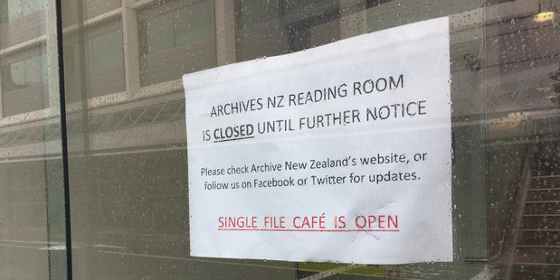 The Archives New Zealand building in Wellington is closed to the public following Monday's earthquake. Photo / File