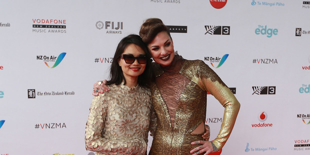 Bic Runga and Hollie Smith. Photo / Doug Sherring