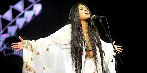 Loading Aaradhna performs her hit Brown Girl at the VNZMAs at Vector Arena. Photo / Norrie Montgomery.