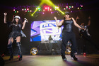 Sandra Denton and Cheryl James of Salt-N-Pepa  on the I Love the 90s Tour  in Tacoma, Washington. Picture / Getty Images