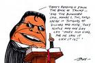 Brian Tamaki blames the quake on the gays. Illustration / Guy Body