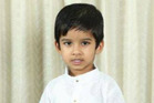 Aldrich Viju, aged 4, died in the tragic accident at the North Shore daycare centre today afternoon. Photo / Supplied