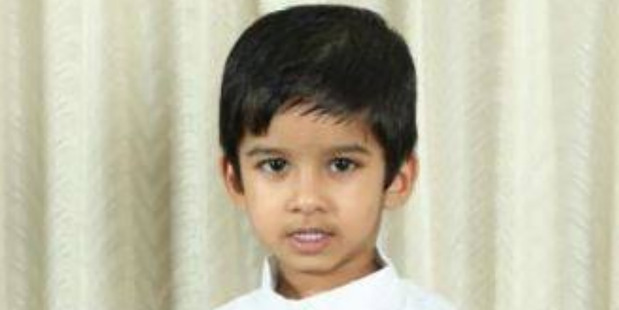 Loading Aldrich Viju, aged 4, died in the tragic accident at the North Shore daycare centre today afternoon. Photo / Supplied