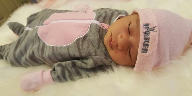 Elizabeth Ah-Sue Sala Parker, the new daughter of Kiwi boxing champ Joseph Parker and Laine Tavita. Photo supplied by Joseph Parker