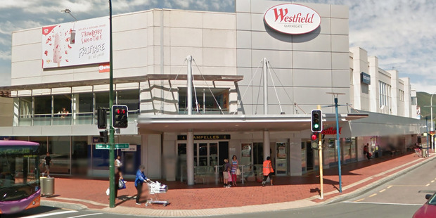 One of the car park buildings at Lower Hutt's Queensgate shopping centre has suffered structural damage. Photo / Google
