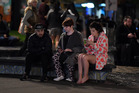 Many students were among those who spent a sleepless night huddled outside or in evacuation centres. Photo / Ross Sefton
