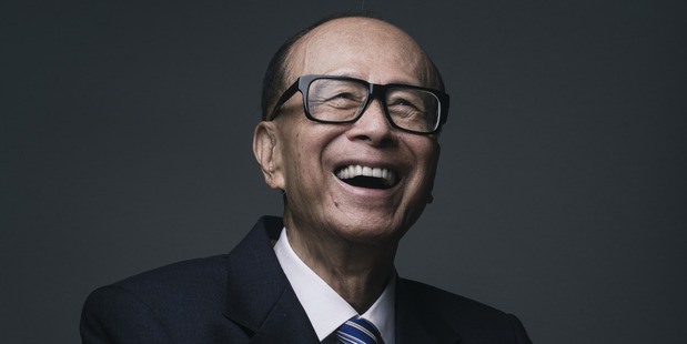 Honk Kong's richest man Li Ka-Shing is donating $5million to the University of Auckland. picture / Bloomberg