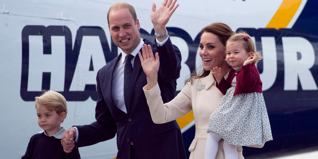 William and Kate, the Duke and Duchess of Cambridge along with their children Prince George and Princess Charlotte . Photo / AP