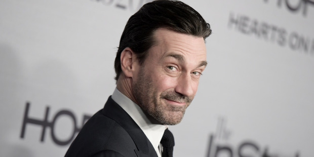 Jon Hamm is famous for playing Don Draper in Mad Men. Photo / AP