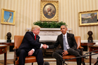 President Barack Obama and President-elect Donald Trump. Photo / AP