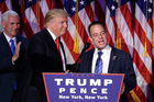 President-elect Donald Trump, left, stands with Republican National Committee Chairman Reince Priebus. Photo / AP