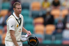 Adam Voges playing against South Africa in Hobart. Photo / AP