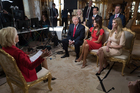 President-elect Donald Trump and his family gather for 60 MINUTES interview. Photo / AP