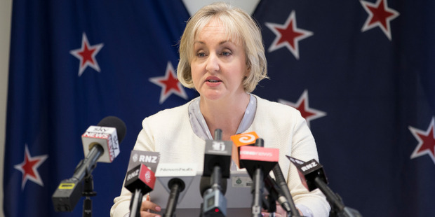 Justice Minister Amy Adams announces the government will not pay compensation to David Bain. Photograph / Mark Mitchell.